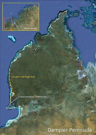 Map Dampier Peninsula